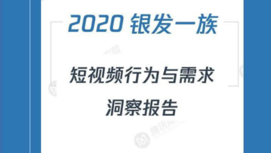 "Photo of 2020 ""silver hair group"" short video insight Report From Tencent Media Research Institute"