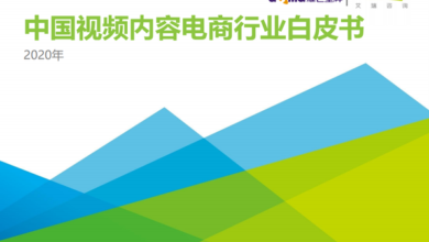 Photo of White paper on China's video content e-commerce industry in 2020 From Irene consulting