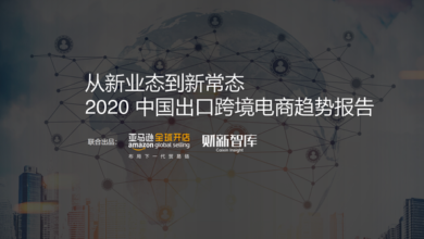 Photo of 2020 trend report of China's export cross border E-commerce From Amazon