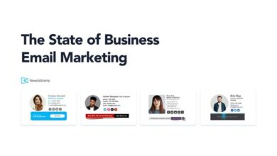 Photo of Business email marketing report From NewoldStamp