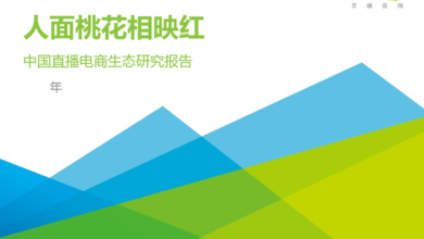 Photo of Research Report on China's live e-commerce ecology in 2020 From IResearch consulting