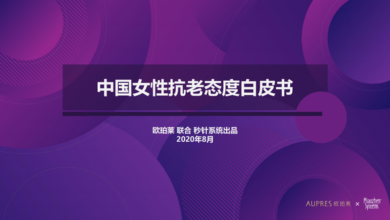 Photo of White paper on China's anti aging attitude towards women From Opperley & second hand system
