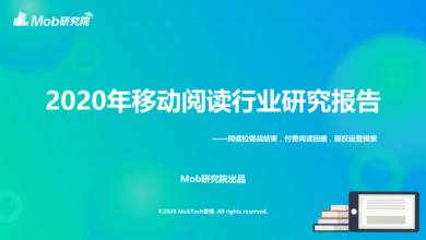 Photo of China Mobile Reading Industry Report 2020 From Mob Research Institute