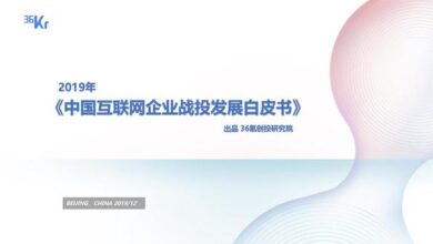 Photo of 2019 white paper on China Internet company's war investment From 36 krypton
