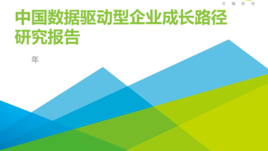 Photo of Research Report on the growth path of China's data driven enterprises in 2020 From IResearch consulting