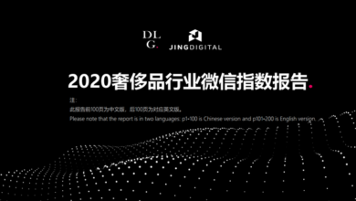 Photo of Annual collection of wechat index report of luxury goods industry in 2020 From JINGdigital&DLG