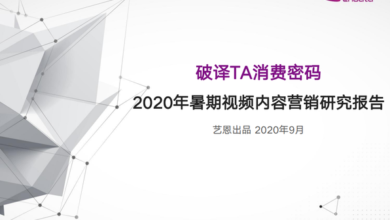 Photo of Research Report on video content marketing in the summer of 2020 From Yien data