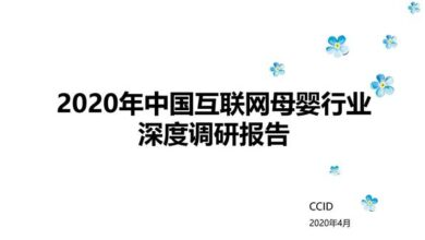 Photo of In depth Research Report on China's Internet maternal and infant industry in 2020 From CCID