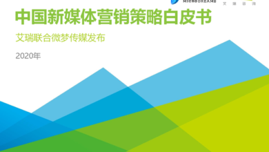 Photo of White paper on China's new media marketing strategy in 2020 From IResearch consulting