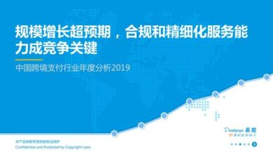 Photo of Annual analysis report of China's cross border payment industry in 2019 From Yi Guan