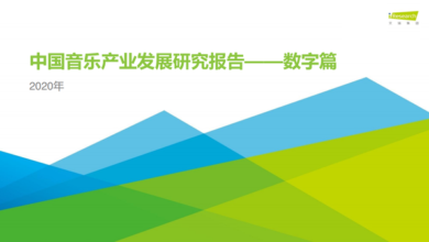 Photo of Research Report on the development of China's music industry in 2020 From IResearch consulting