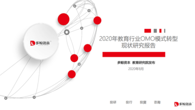 Photo of Research Report on the transformation of Omo mode in education industry in 2020 From Duojing capital