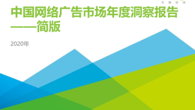 Photo of Annual insight report on China's online advertising market in 2020 From IResearch consulting