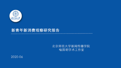 Photo of New youth new consumption Observation Research Report From Beijing Normal University