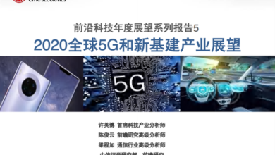 Photo of Prospect of global 5g and new infrastructure industry in 2020 From citic securities