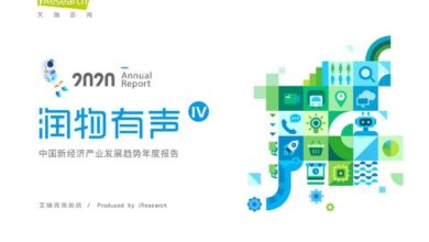 Photo of Annual report on the development of China's new economy industry in 2020 From IResearch consulting