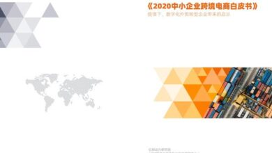 Photo of 2020 white paper on cross border e-commerce of SMEs From Yibang Power Research Institute