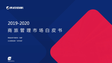 Photo of White paper on business travel management market from 2019 to 2020 From Ctrip