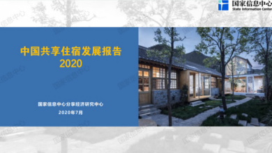 Photo of 2020 China shared accommodation Development Report From State Information Center