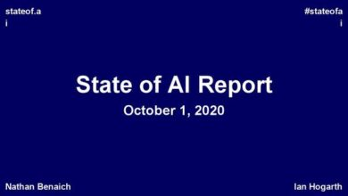 Photo of Artificial intelligence report 2020 From stateof.