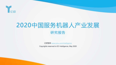 Photo of 2020 China Service Robot Industry Development Report From Billion euro