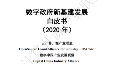 Photo of White paper on new infrastructure development of digital government in 2020 From Cloud computing open source industry alliance