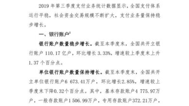 Photo of General situation of payment system operation in the third quarter of 2019 From People's Bank of China