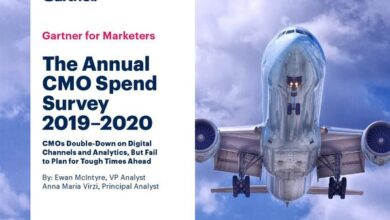 Photo of Chief marketing officer's annual report on CMO expenditure for 2019-2020 From Gartner