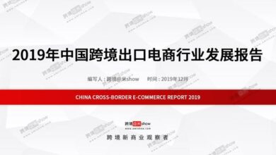 Photo of Report on the development of China's cross border export e-commerce industry in 2019 From Cross border Amie show