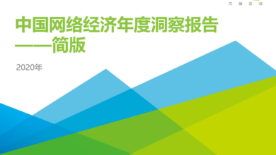 Photo of Annual insight report on China's network economy in 2020 From IResearch consulting