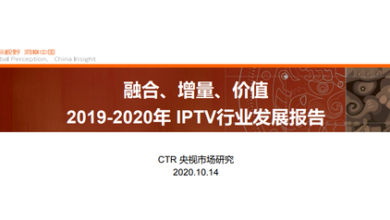 Photo of Development report of IPTV industry in 2019-2020 From CTR