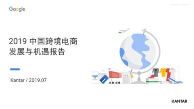 Photo of China's cross border e-commerce opportunities and growth report in 2019 From Channel &Google