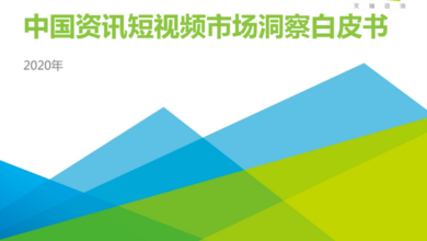 Photo of China's information short video market insight white paper in 2020 From IResearch consulting