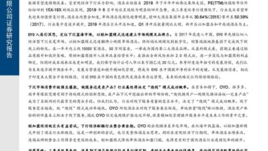 Photo of Enterprise Research Report of hotel industry in 2019 – Oyo From Dongxing Securities