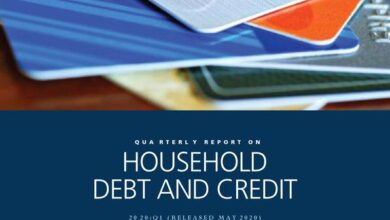 Photo of US household debt and credit report for the first quarter of 2020 From New York Fed