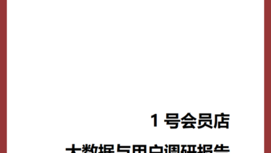 Photo of Big data and user survey report of No.1 member store From Jingdong Research Institute