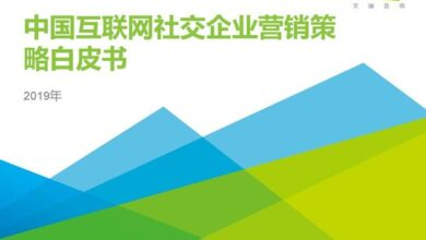 Photo of White paper on marketing strategy of Chinese Internet social enterprises in 2019 From IResearch consulting