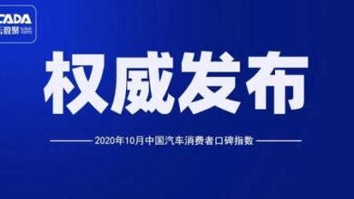 Photo of Report on China's automobile consumers' word of mouth index in October 2020 From Cloud number gathering