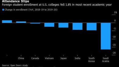 Photo of In the 2019-2020 academic year, 1.08 million international students enrolled in American universities, the largest drop in 16 years From NAFSA