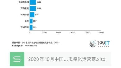 Photo of China's major public charging facilities scale operators in october2020