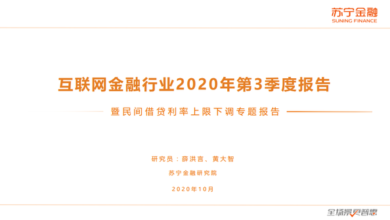 Photo of Internet finance industry report in the third quarter of 2020 From Suning Financial Research Institute