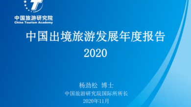Photo of 2020 China outbound tourism development report From China Tourism Research Institute
