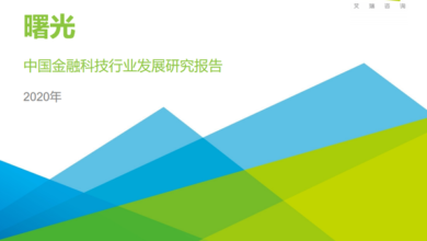 Photo of Research Report on the development of China's financial technology industry in 2020 From IResearch consulting
