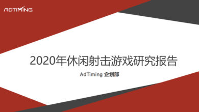 Photo of 2020 leisure shooting game report From AdTiming