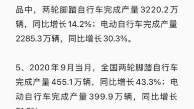 Photo of Summary of bicycle industry data from 2019 to 2020