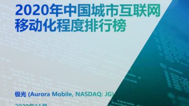 Photo of China's urban Internet mobility ranking in 2020 From aurora