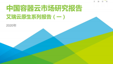 Photo of Research Report on China's container cloud market in 2020 From IResearch consulting