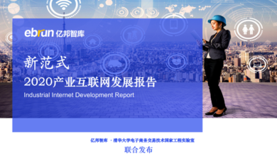 Photo of 2020 industrial Internet Development Report From Yibang think tank