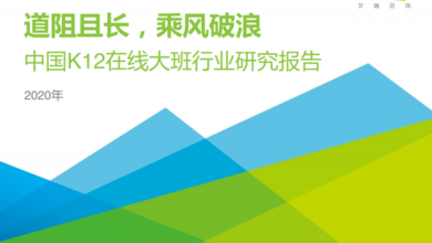 Photo of China K12 online large class industry research report in 2020 From IResearch consulting