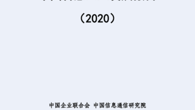 Photo of 2020 China smart Enterprise Development Report From China Institute of information technology